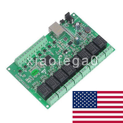 8 Channel Relay Network IP Relay Web Relay Dual Control Ethernet RJ45 interface