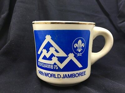 Vintage Boy Scout 14th World Jamboree 1975 Nordjamb Coffee Mug Norway