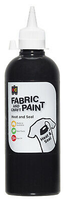 EC Paint Fabric And Craft Paint Heat And Seal Non Toxic 500ml - Black