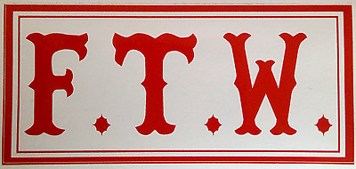 Hells Angels Support Aufkleber F.T.W. Original 81 Support Red & White RAW