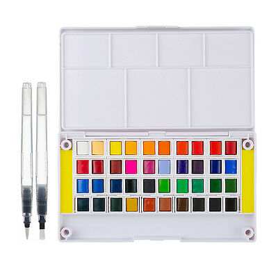Paint Set 40 Colors with a Separate Palette and Two Water Painting Brush