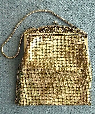 Vintage silver glow mesh coin purse evening bag clutch whiting & Davis USA