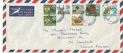 RHODESIA;POST UDI 1966 cover.postmarked SALISBURY RHODESIA +collection of stamps