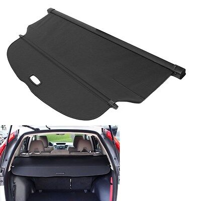 Black Rear Trunk Canvas Cargo Cover Security Shield Fit For Honda CRV 2017-2018