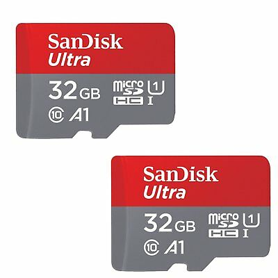 2x SanDisk 32GB Ultra 653x 98MB/s Class 10 UHS-I Micro SD SDHC Memory Card