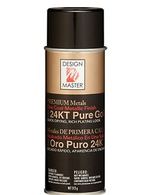 1 x 24kt Pure Gold Spray Can Paint Design Master 5 Min Dry Time True Gold Colour