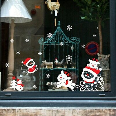 Merry Christmas Snowflakes Decal Wall Sticker Vinyl Art Christmas Window Decor