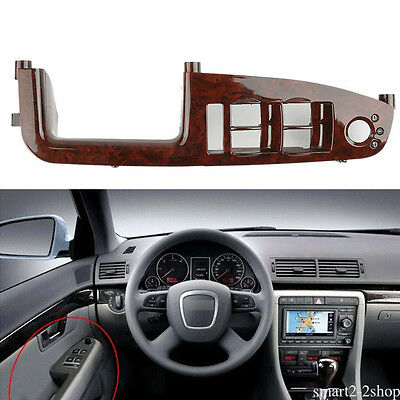 For Audi A4 S4 RS4 B6 B7 Wood Left Front Door Switch Panel Trim 8E1867171B7PE