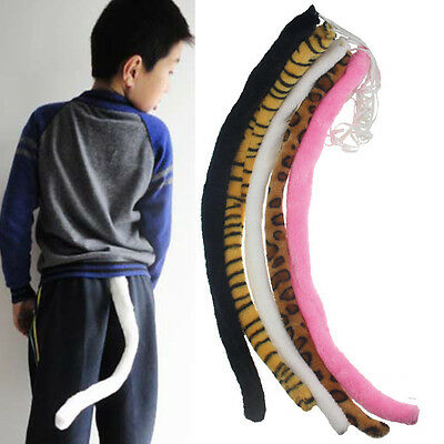 Cute Long Cat Tail Wire Inside Cosplay Fancy Dress Costume Halloween Party Props