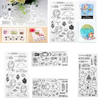 Alphabet Transparent Silicone Clear Stamp Seal Cling Diary Scrapbooking Card DIY