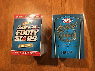 Select Afl 2017 Footy Stars & Certified Full Sets