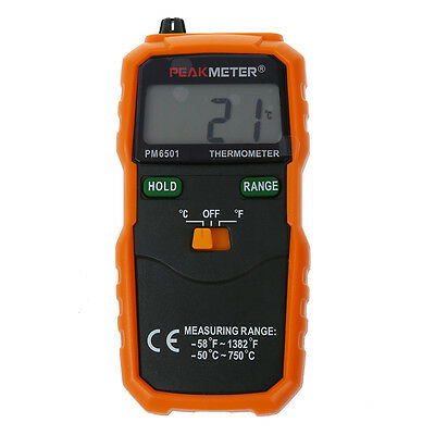 PM6501 K Type Digital LCD Thermometer Temperature Meter Tester Probe