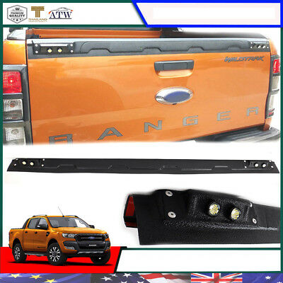 Fit 12+ Ford Ranger T6 PX MK Wildtrak Black Cover trim Tailgate Liner LED Revese