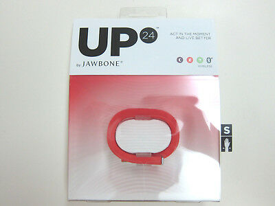 Jawbone UP24 Red Wireless Activity Fitness & Sleep Tracker - Red Size Small