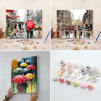 Streets DIY Digital Oil Painting Paint by Numbers on Canvas Home Decor Surprise