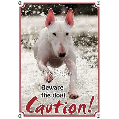 Pet Sign Bullterrier - Caution