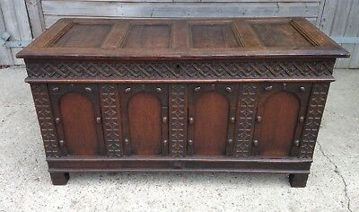 A Late 17th / Early 18th Century Oak Coffer