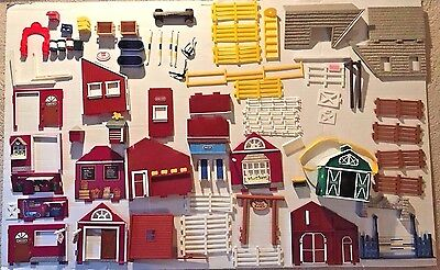 Breyer Stablemates Huge Lot of Building Barn Stable Pieces Fences Walls Signs