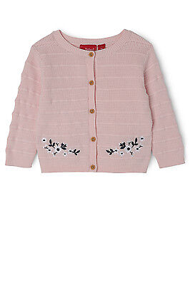 NEW Sprout Embroidery Cardigan Lt Pink