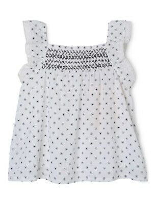 NEW Sprout Shirring Top White