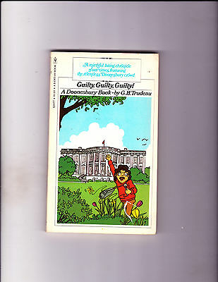 "Guilty, Guilty, Guilty! 1976-Strip Reprints Paperback-""Doonesbury Book ! """