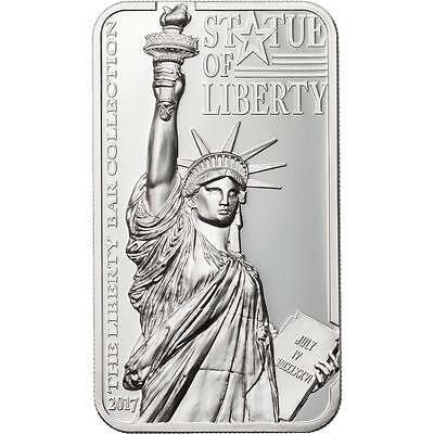 Cook Islands 2017 $10 Statue of Liberty 2 Oz Silver Proof Coin