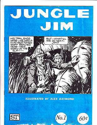 "Jungle Jim No 1 -1972-Strip Reprints Soft Cover- "" Jungle Cover ! """