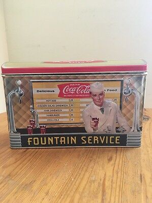 Vintage Styled Coca-Cola Fountain Service Diner Tin