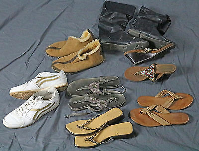 Women's Shoes Lot Of 7! Sandals Heels Sneakers Boots Size 8 / 8.5