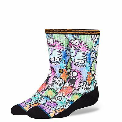 Stance Monster Party Boys Kevin Lyons Classic Crew Sock - Large - B526C17MON-MUL