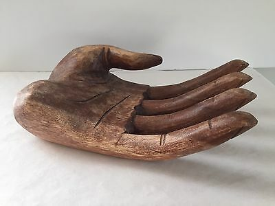 Large Hand Carved Wood HAND - Indonesia