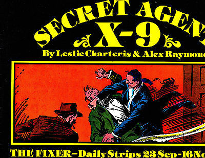 "Secret Agent X-9 No 7-1980-Strip Reprints Soft Cover-""Dailies -9-35 to 11-35! """