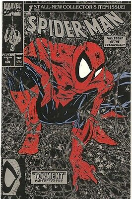 Marvel Comics Comic Book Spider-Man #1 (Aug 1990) Torment McFarlane Silver VF/NM