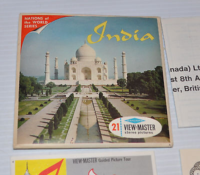 - INDIA VIEW-MASTER Reels with Packet B-235 -