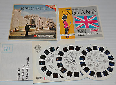 - ENGLAND VIEW-MASTER Reels with Packet B-156, -