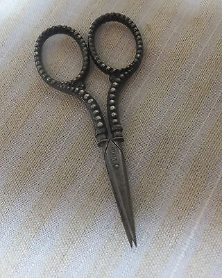 Antique Germany Sterling Silver Sewing Embroidery Scissors