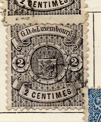 Luxemburg 1874 Early Issue Used 2c. 183962