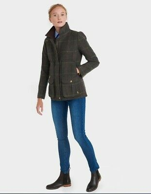 Joules Tweed Heather Check Field Coat- Size US 8 CLOSEOUT