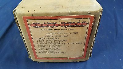 "Clark ""A"" Roll No. A-2282 Nickelodeon Coin Player Piano Ed Freyer Recut"