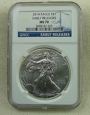 2014 Silver American Eagle NGC MS70 Early Releases