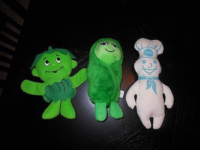 Vintage Lot Green Sweetie Pea,1992-Jolly-Green-Giant-Sprout, Pillsbury Doughboy
