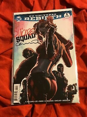 Suicide Squad #1~Harley Quinn Variant~Signed By Lee Bermejo~Movie Stars Robbie