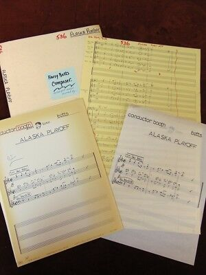 Jerry Lewis Show 1967 TV Music Manuscript Score ALASKA PLAYOFF by HARRY BETTS