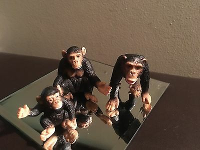 Vintage Schleich Germany Monkey Family Figures