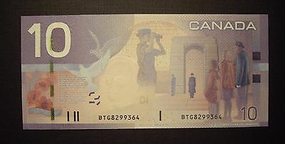 Canada BC-68aA 2007 $10 Replacement Note BTG8299364 - ChUnc