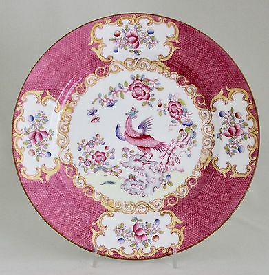 "MINTON Pink Cockatrice 10.25"" Dinner Plate (Wreath Mark) 4863 England  MINT"