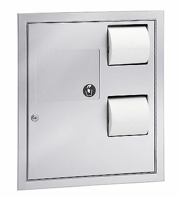 ADA Compliant Version -- Bradley 5942 Tissue Dispenser & Tampon Disposal