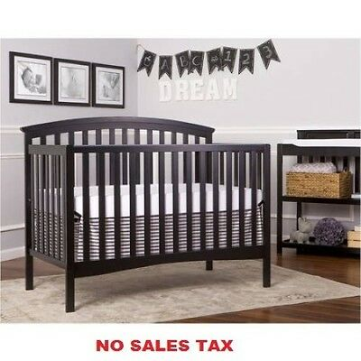 5-in-1 Convertible Crib Bed Toddler New Nursery Baby Furniture