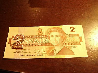 1986 - Canadian two dollar bill - $2 Canada note - EGP8466145