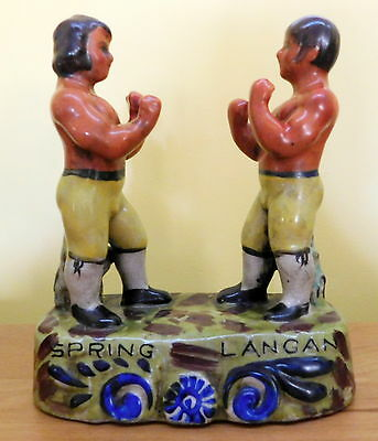 Staffordshire Figures, Spring and Langan Bare Fist Boxers of 1824